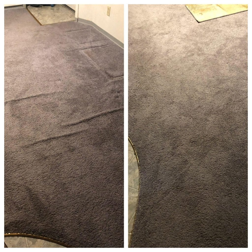 Carpet Restretching Before/After